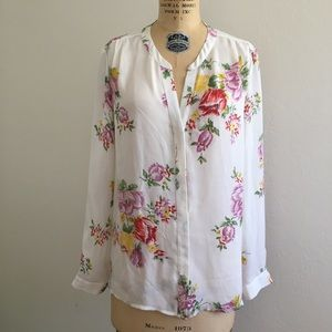 Silk, button-down blouse by Joie, NWOT. Size L.